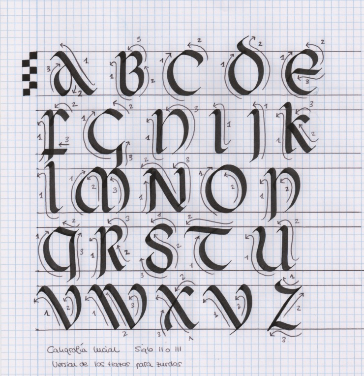caligrafía uncial